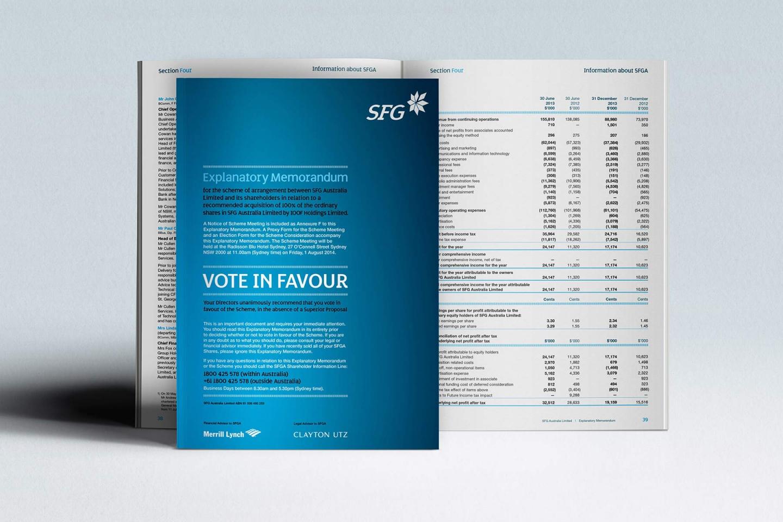 m a transaction documents design davey sfg explanatory memorandum